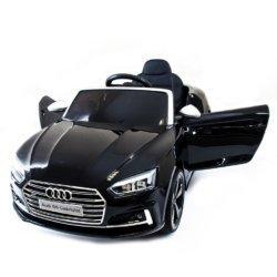 Детский электромобиль Audi S5 Cabriolet LUXURY синий (колеса резина, сиденье кожа, пульт, музыка, глянцевая покраска)