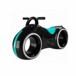 Беговел Star One Scooter - DB002 черно- зеленый (устойчивые колеса, подсветка, музыка)